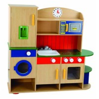 Young Mindz All in 1 Wooden Deluxe Kitchen Set