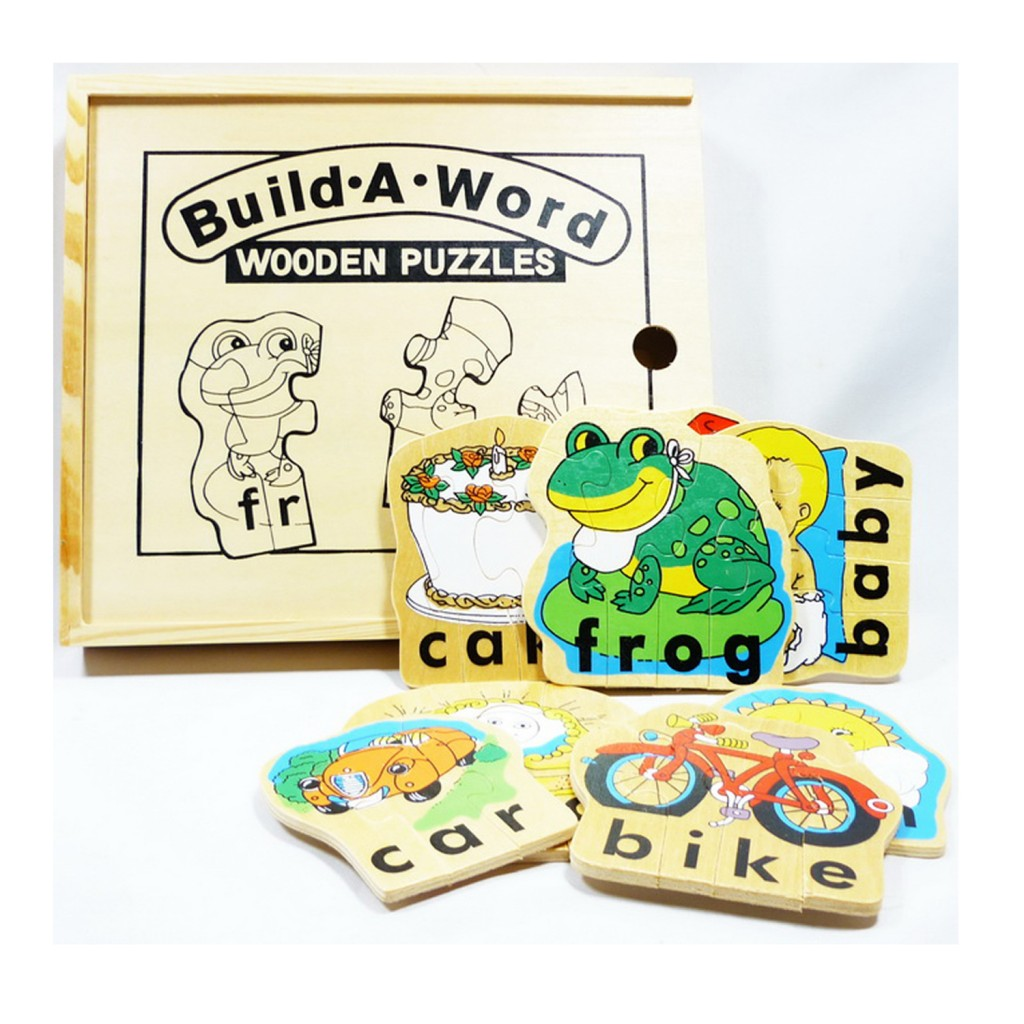 Young Mindz Build A Word Wooden Puzzle