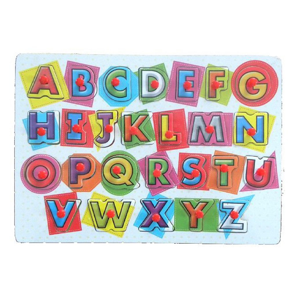 Young Mindz Colorful Capital Alphabet Peg Puzzle