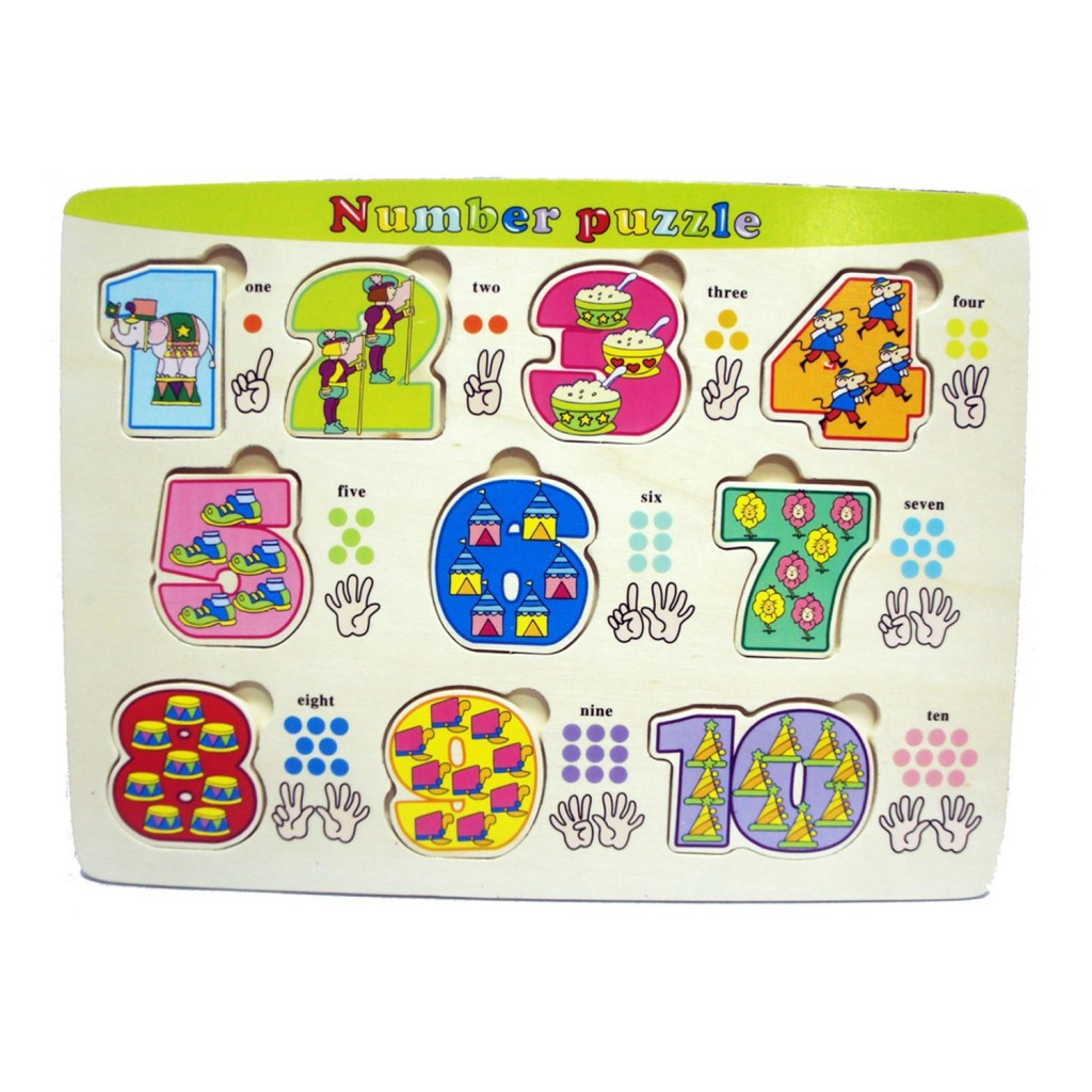 Young Mindz Colorful Numbers Puzzle