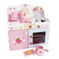 Mother Garden Deluxe Strawberry Kitchen Set