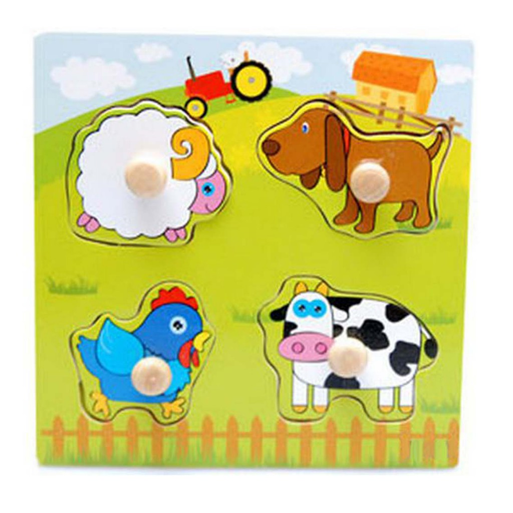 Young Mindz Farm Animals Knob Puzzle