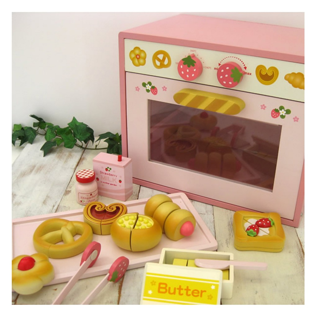 Mother Garden Pink Oven Set