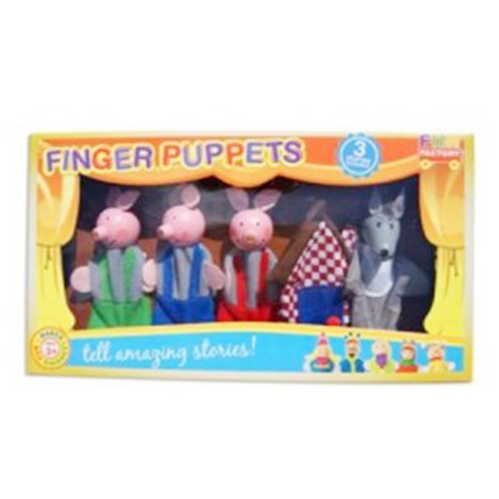Young Mindz 3 Little Pigs Finger Puppets
