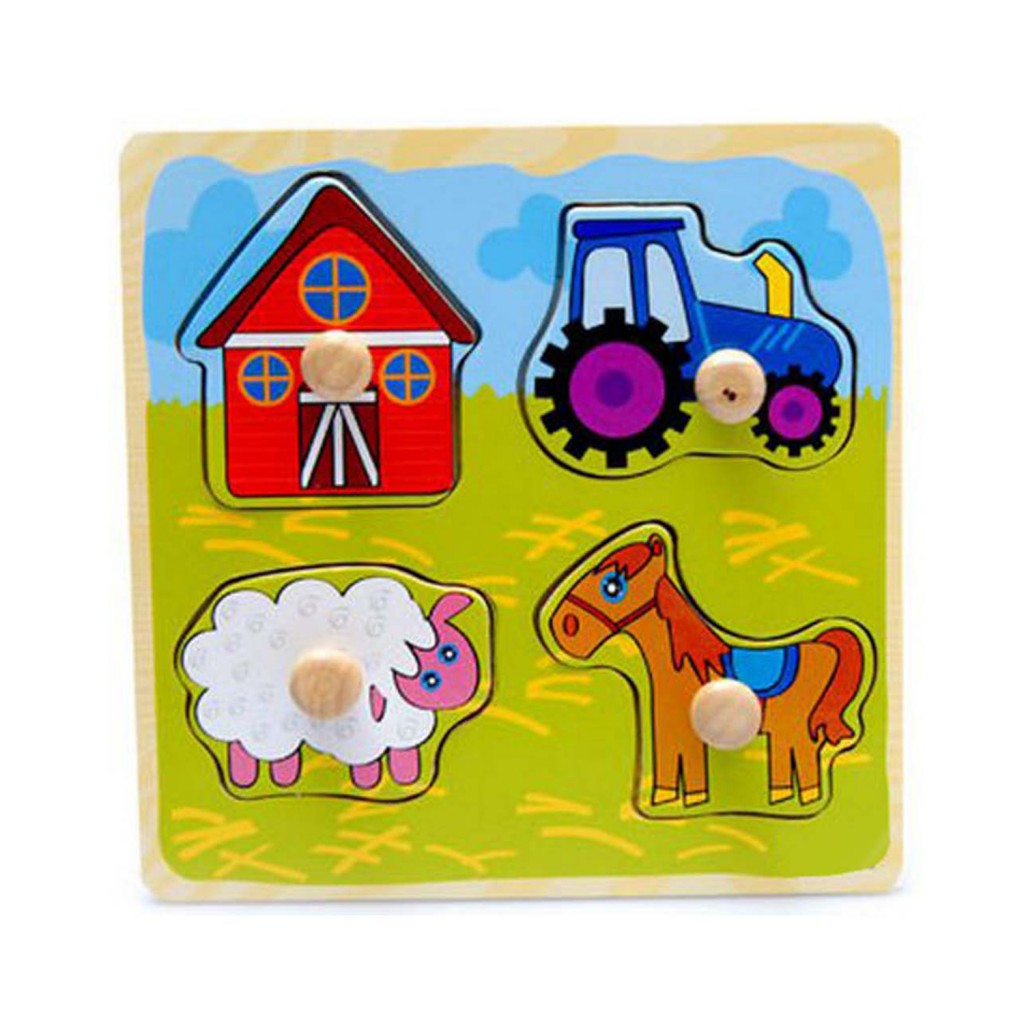 Young Mindz In The Farm Knob Puzzle