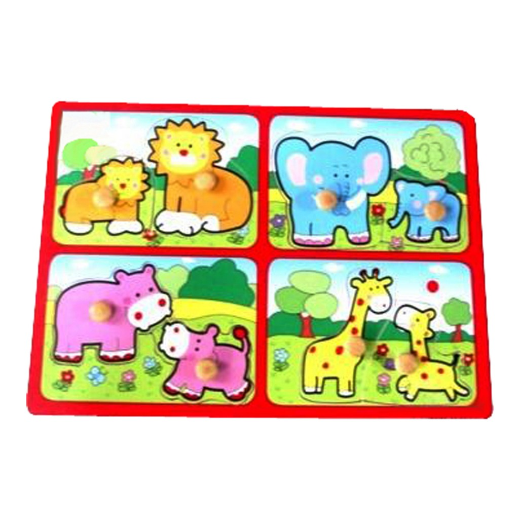 Young Mindz Mother & Baby Zoo Peg Puzzle