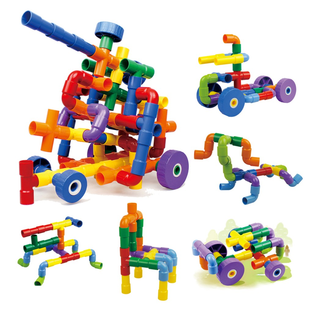 Young Mindz Pipe Builders with Wheels