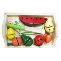 Young Mindz Wooden Cutting Fruit Set