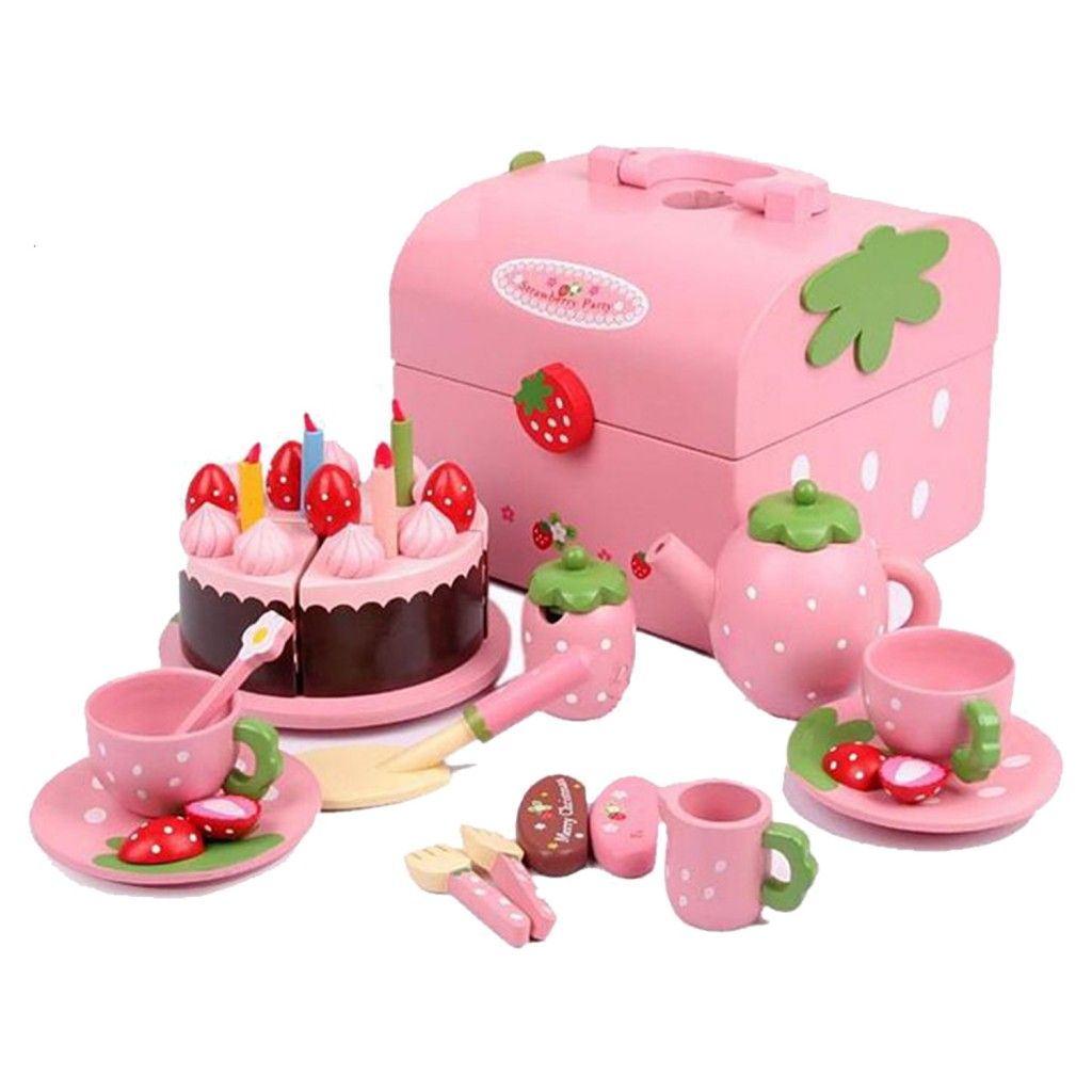 Mother Garden Strawberry Birthday Cake Party Set