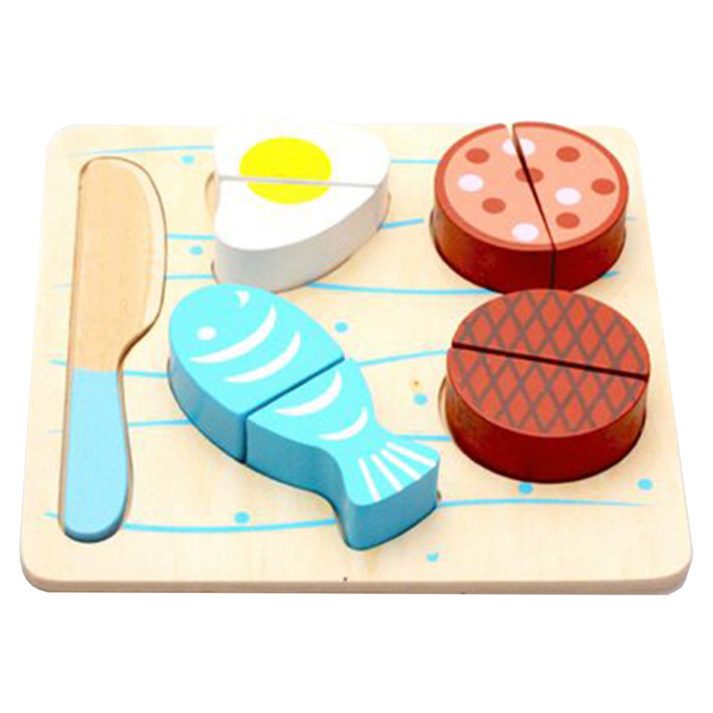 Young Mindz Wooden Cutting Meal Puzzle