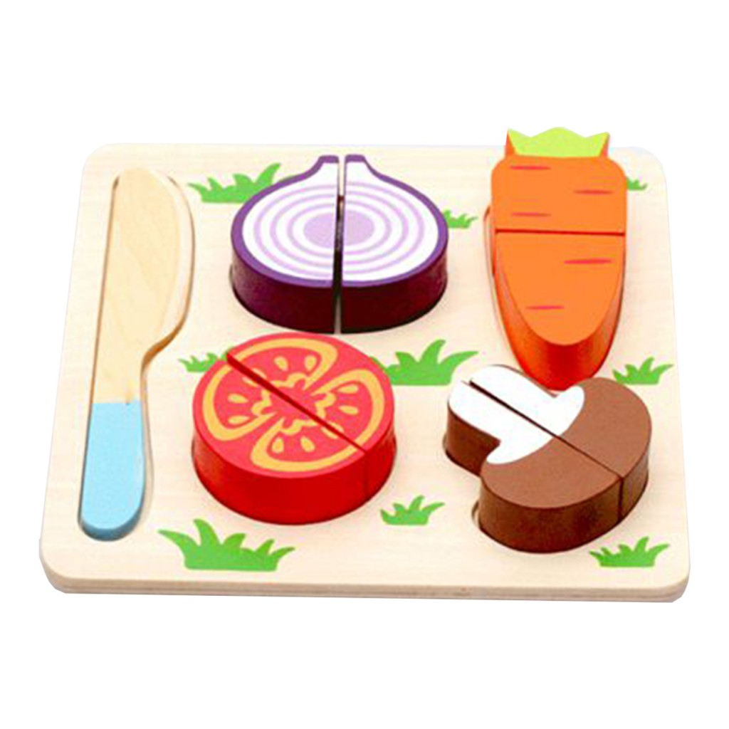 Young Mindz Wooden Cutting Vegetable Puzzle