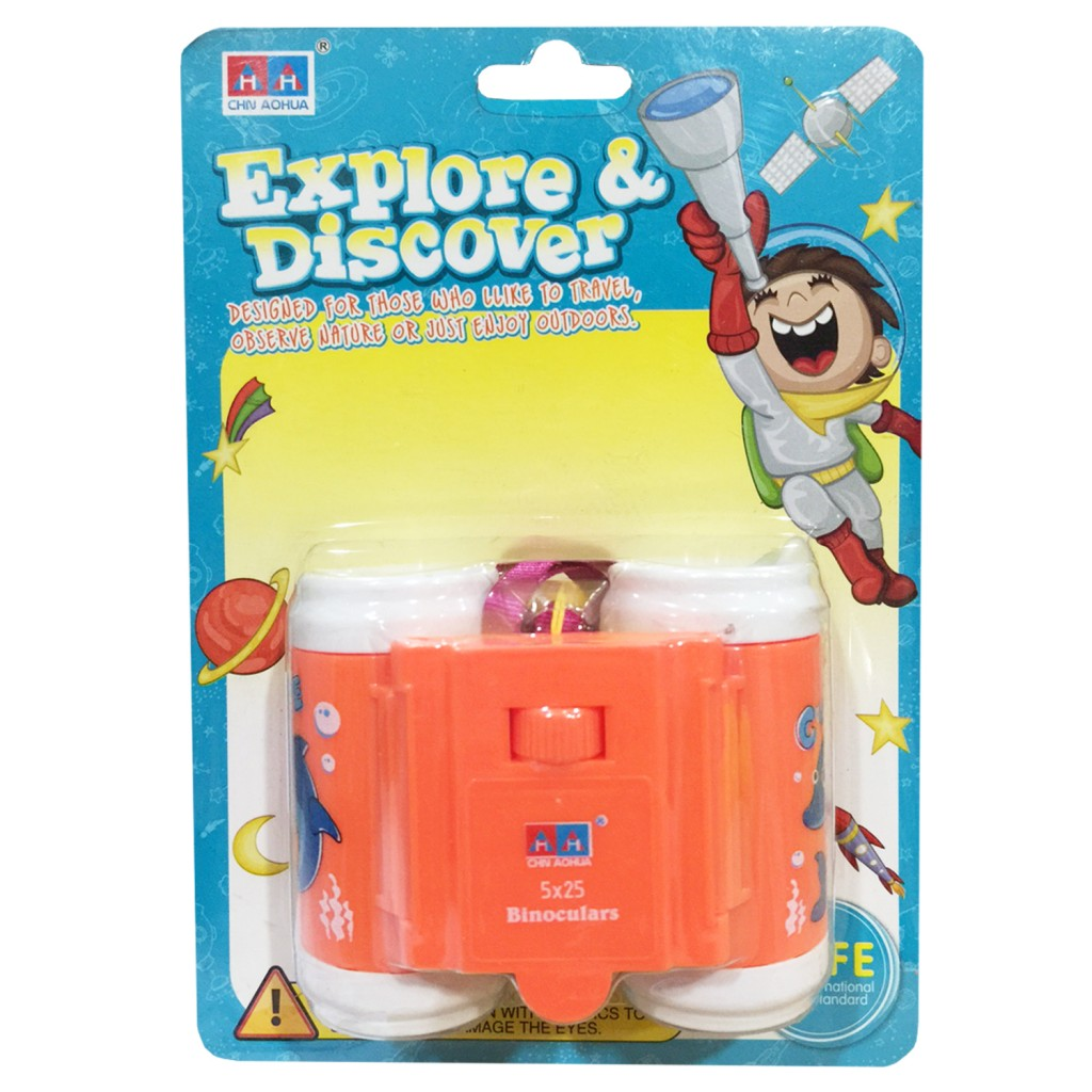Young Mindz Explore & Discover Kids Binoculars Orange
