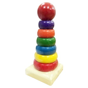 Young Mindz Wooden Rainbow Stacker