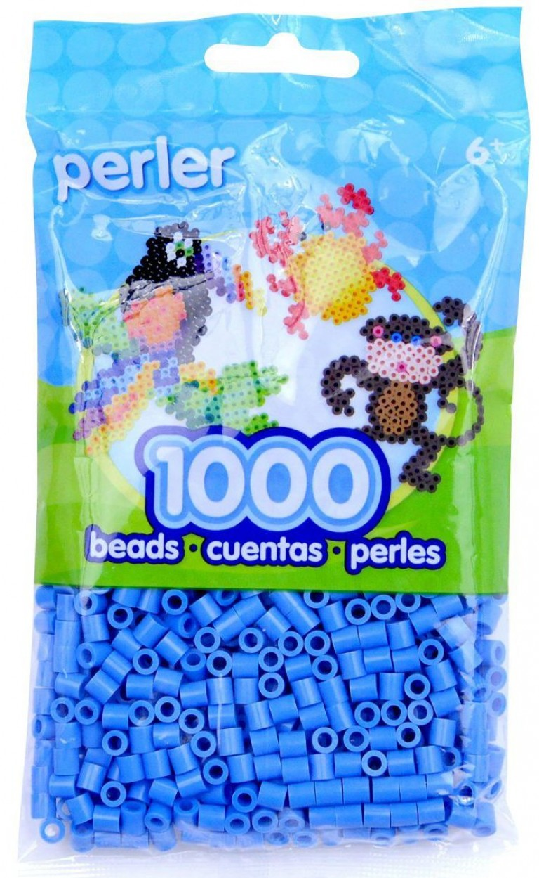 Perler Beads Light Blue Bag
