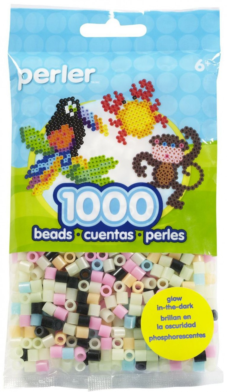 Perler Beads Light Pink Bag