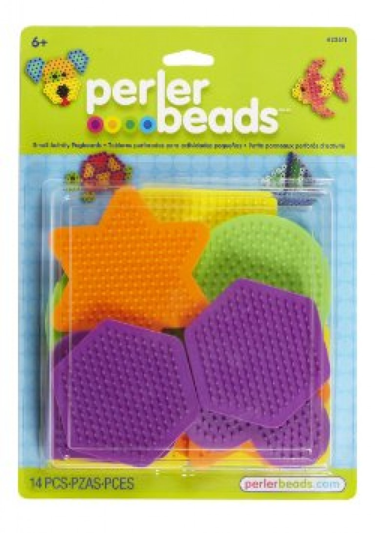 Perler Beads Large Basic Shapes Pegboards 5-Pack-Assorted Colors