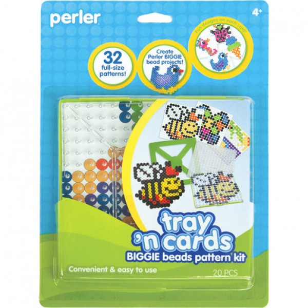 Perler Beads Tray 'n Cards Pattern Kit - Classic Beads