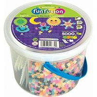 Glow-In-The-Dark Bucket of Beads