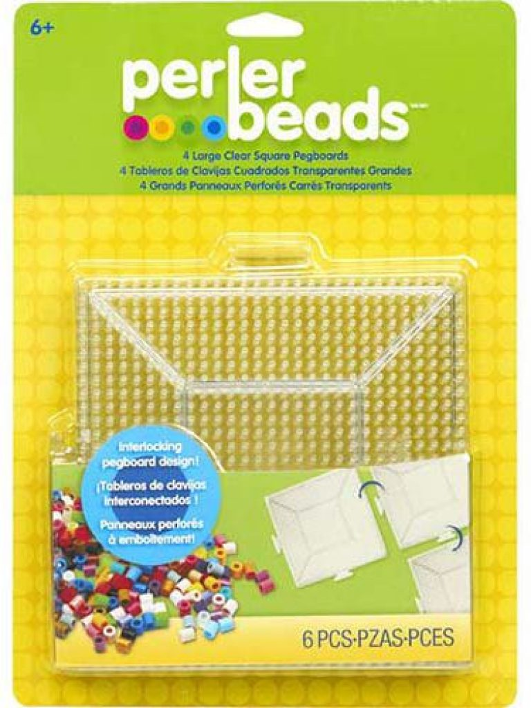 Large Clear Square Pegboards 4 Pack