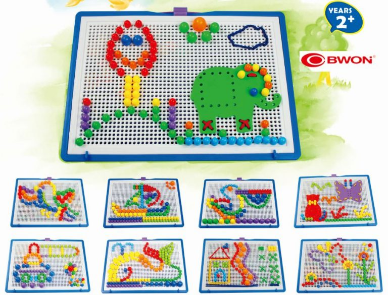 Creative Mosaic Pegboard Mushroom Nails Jigsaw Puzzle (Combination Puzzle Toys)