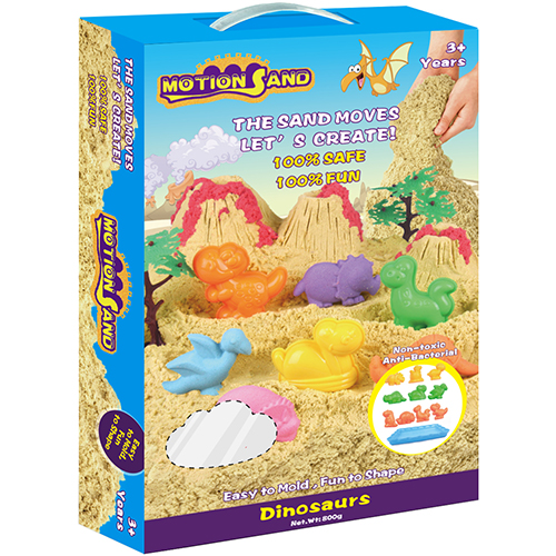 Motion Sand Deluxe Box- Dinosaurs Playset