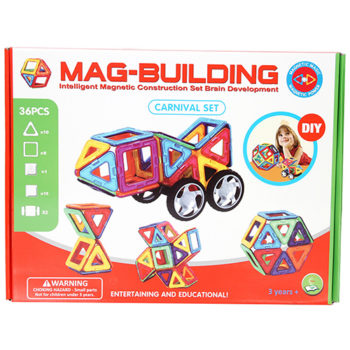 36pcs. Mag-Building Carnival Set