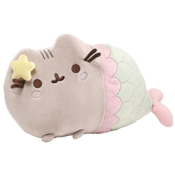 "Gund - Pusheen Mermaid Pose Plush 12""L"