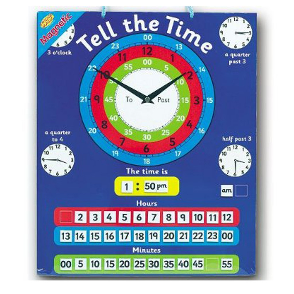 Young Mindz Tell the Time Magnetic Board