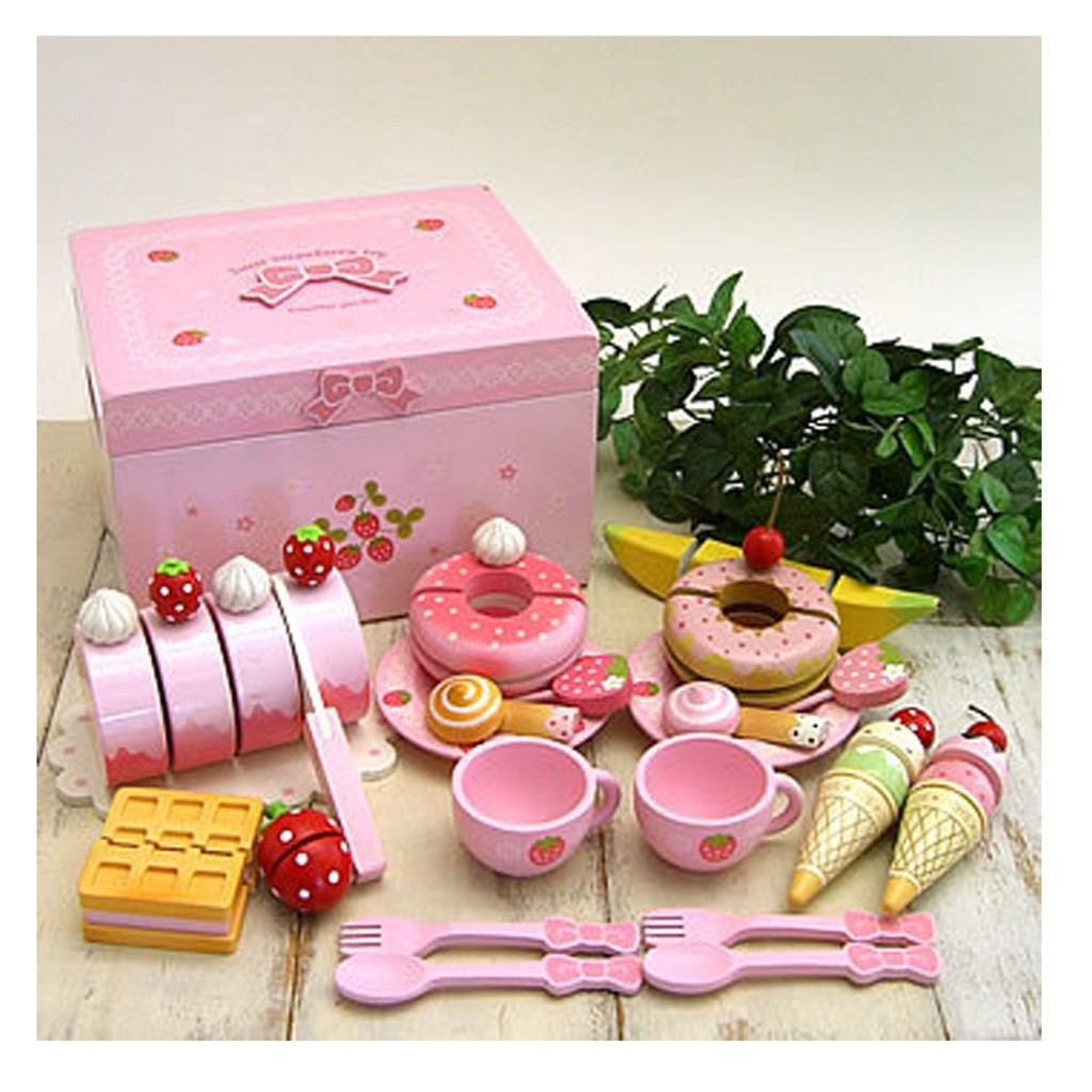 Mother Garden Wild Strawberry Pink Kitchen Set