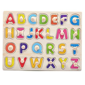 Young Mindz Wooden Capital Alphabet Stroke Guide Puzzle