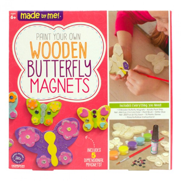 Made By Me Wooden Butterfly Magnets