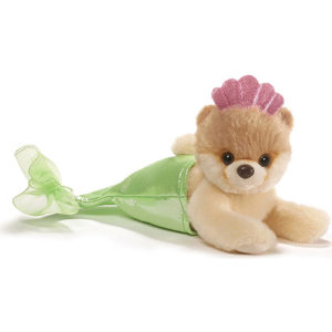 "Gund - Itty Bitty Boo Mermaid Stuffed Dog 5"" Plush"